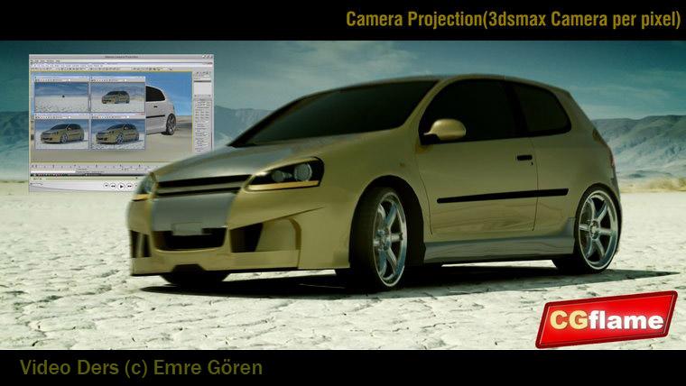 3dsmax İle Camera Projection