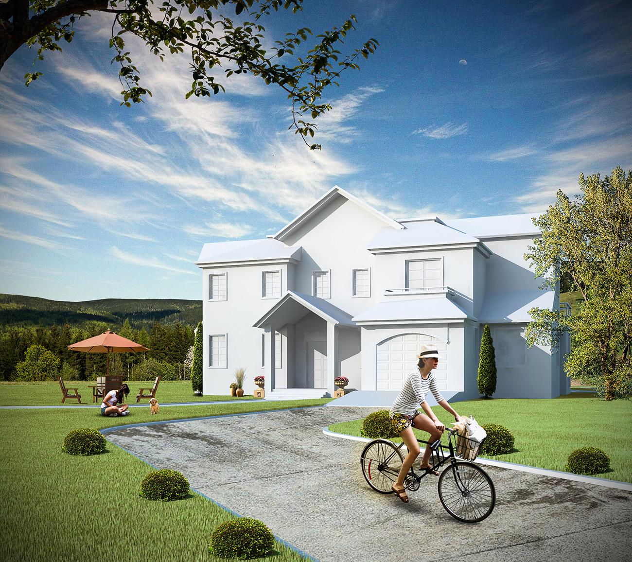 3ds Max İle Villa Modelleme Eğitim Seti