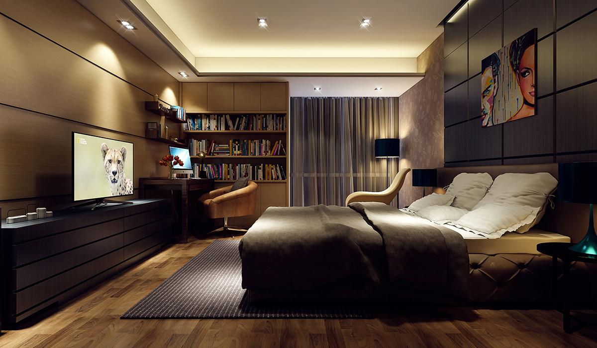 3ds Max ve Vray Render İle Yatak Odası Render Eğitim Seti 1