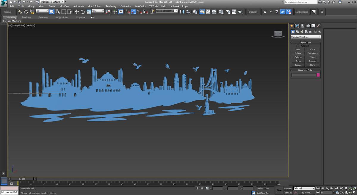 Photoshop'tan 3ds Max'e Aktarıp 3D Logo Yapma