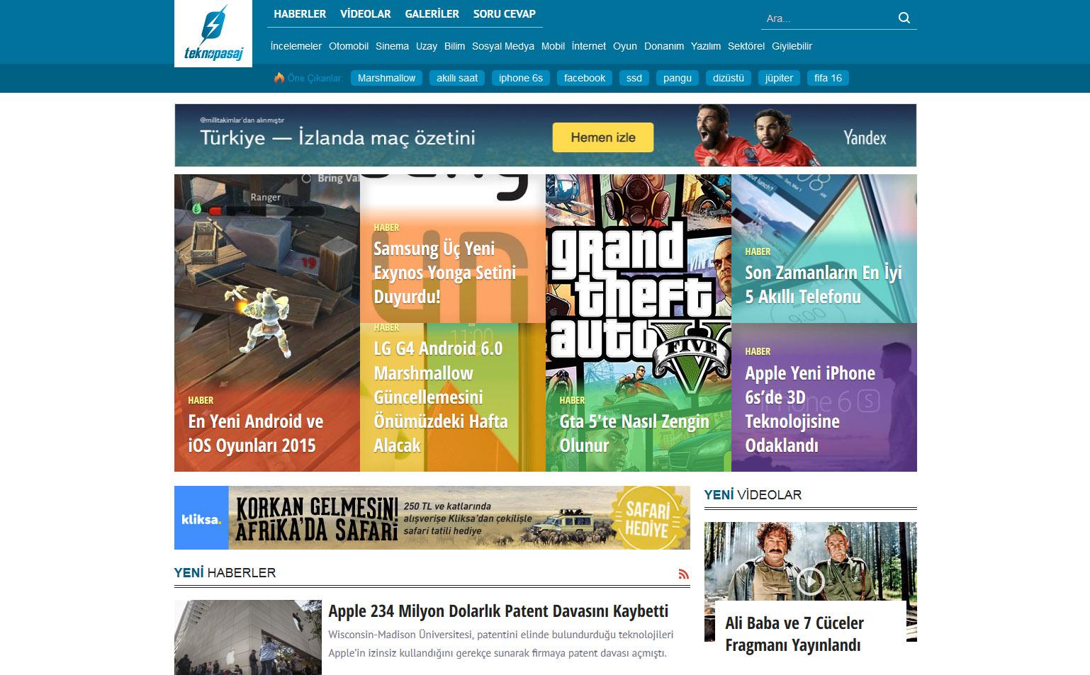 Yeni Teknoloji Haber Sitesi Projemiz : Teknopasaj.com
