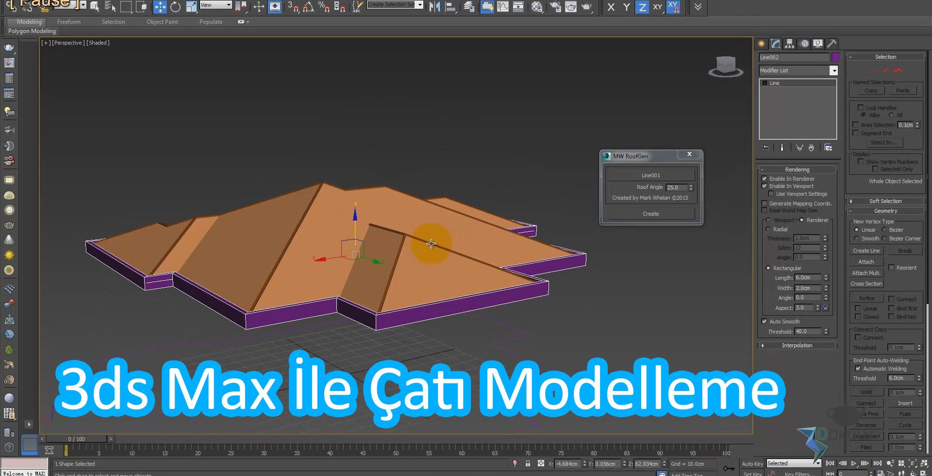 3ds Max İle Çatı Yapımı – 3ds Max İle Çatı Modelleme
