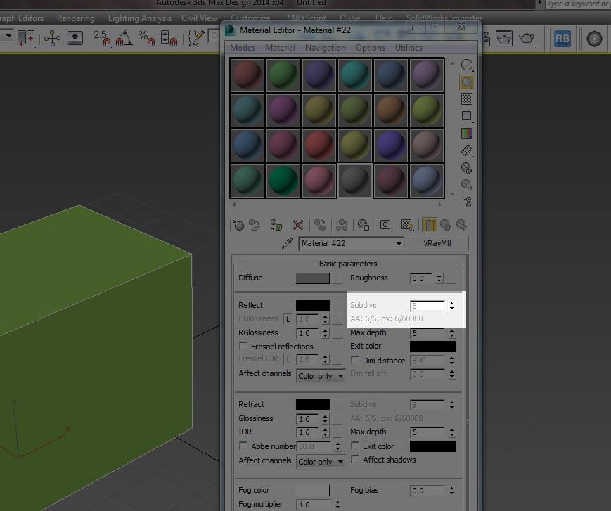 V-Ray Render 3.3 ve üstü versiyonlarda subdivs değerlerini değiştirme