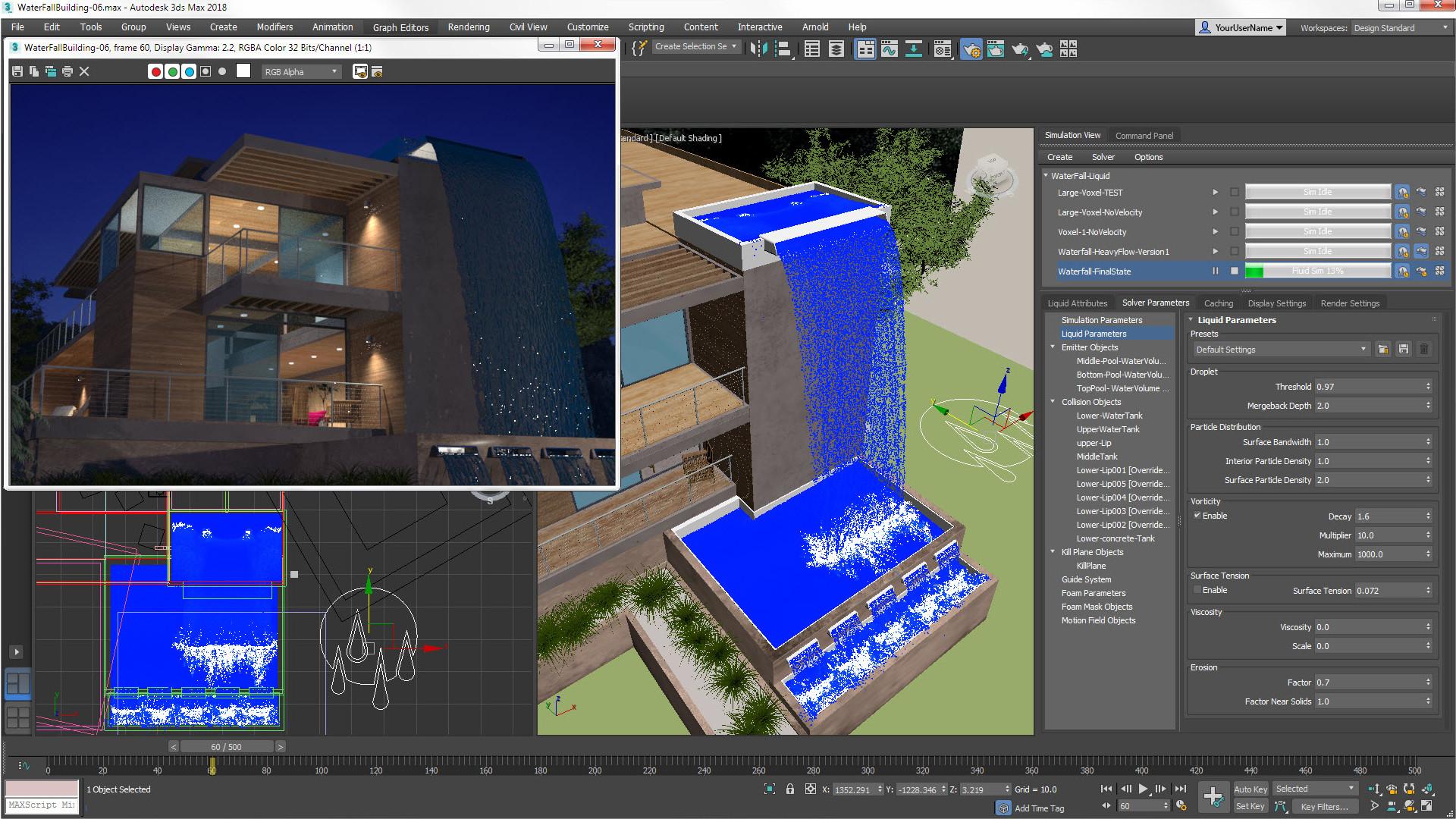 3ds Max 2018 Update 3 ile Sıvı Akışkanları Animasyonu