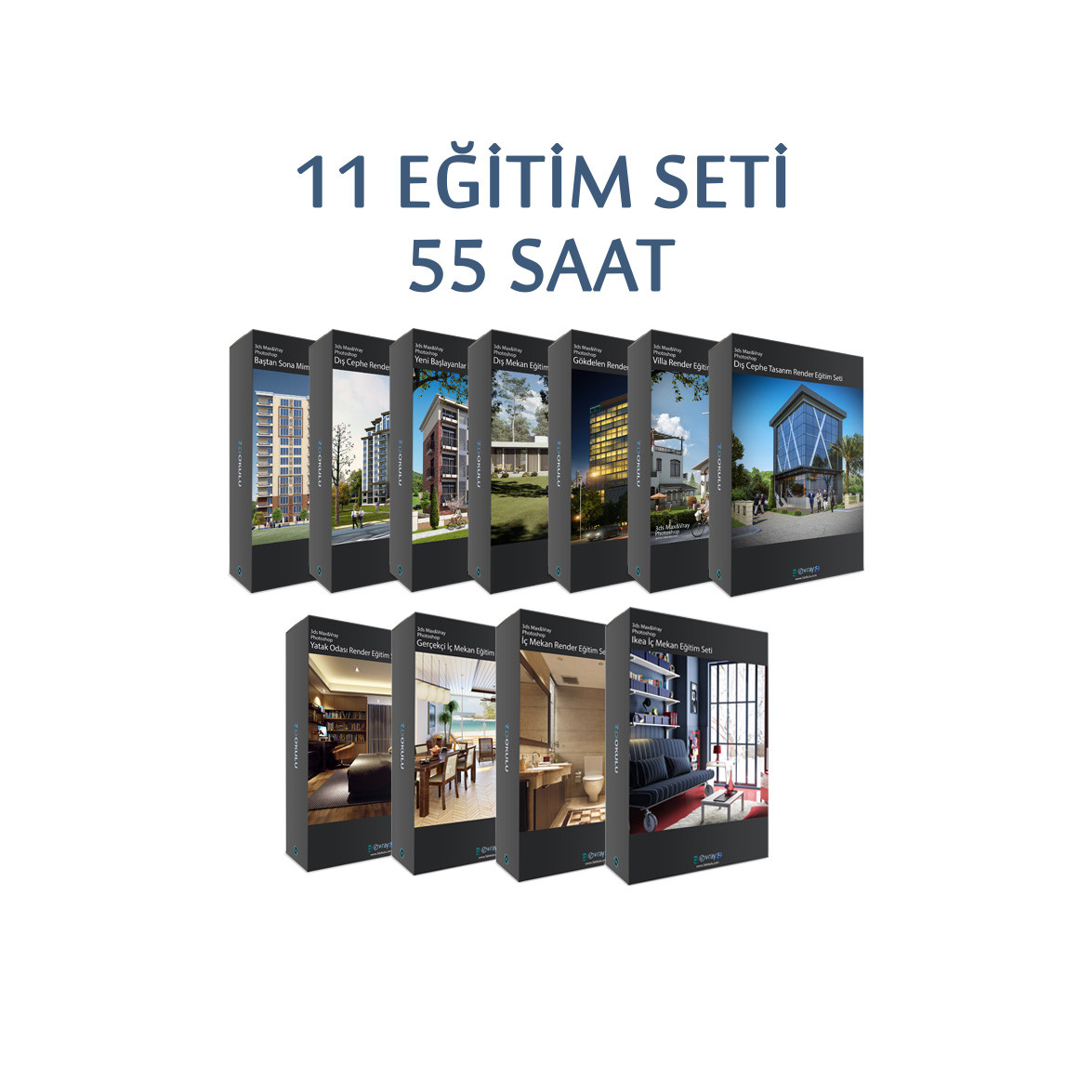 3ds Max ve VRay Render 11'li Eğitim Seti Paketi Taksitli Satışta